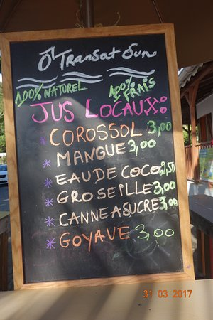 Bouillante, Guadeloupe: Jus de Corossol (trop bon !)