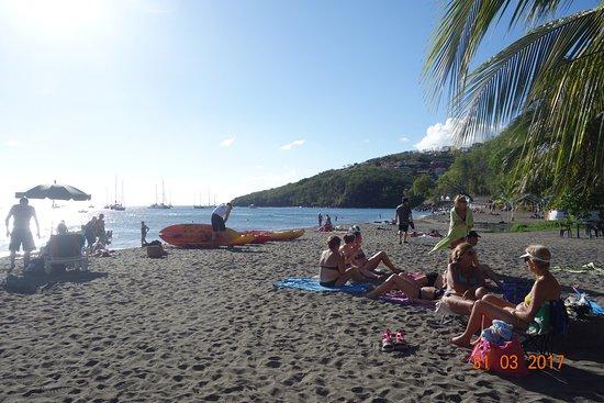 Bouillante, Guadalupe: la plage de Malendure