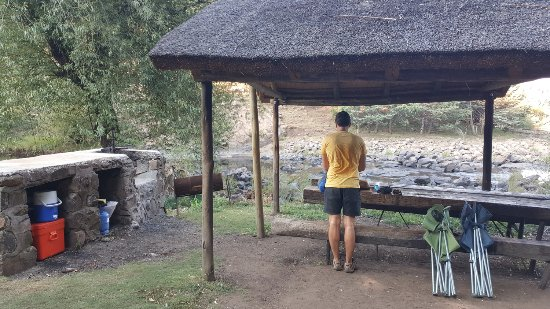 Semonkong, Lesotho: communal table at the camping area