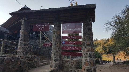 Semonkong, Lesotho: reception area