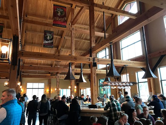 Stowe, VT: Beautiful new Trapp Lodge Brewing and Bierhall
