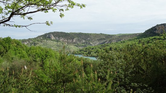 Bauduen, France: vue du camping