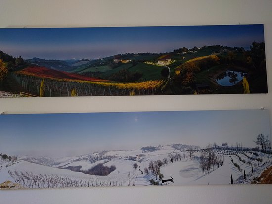 Marano sul Panaro, Italy: Their panoramic view of winter and summer