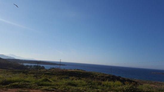 Parigoria, Yunanistan: View from the hotel, towards beach