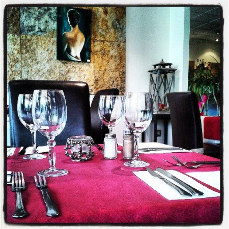 Brasserie Leonardo: Mesa preparada