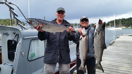 Gabriola Island, Canadá: Go Fish Charters works out of Page's Resort now. This week has been fabulous!