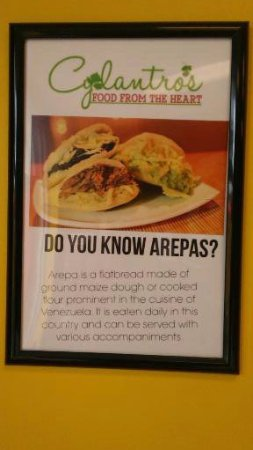 Canton, GA: Here is what a Arepas consists of.