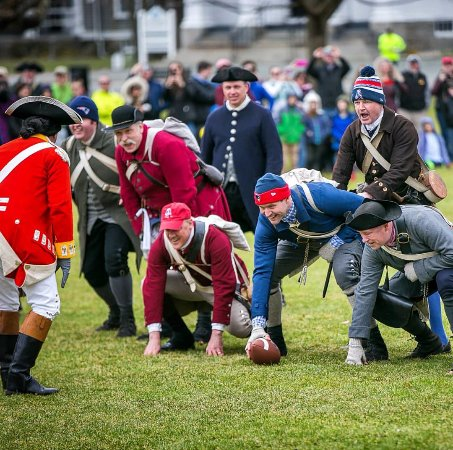 Some fun and games at the rehearsal of the Battle of Lexington reenactment