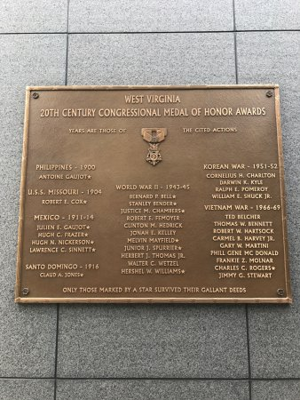 Charleston, Virginia Occidental: Plaque