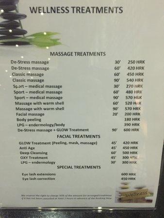 Spa Treatments Picture Of Doubletree By Hilton Zagreb Tripadvisor