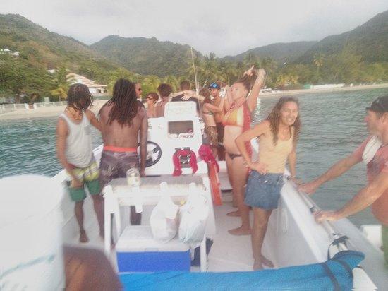 Trois-Ilets, Martinique : Dauphins à fleur d'O