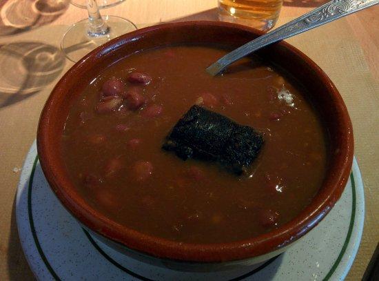 Restaurante Don Nuno: Alubias pintas con morcilla de Burgos