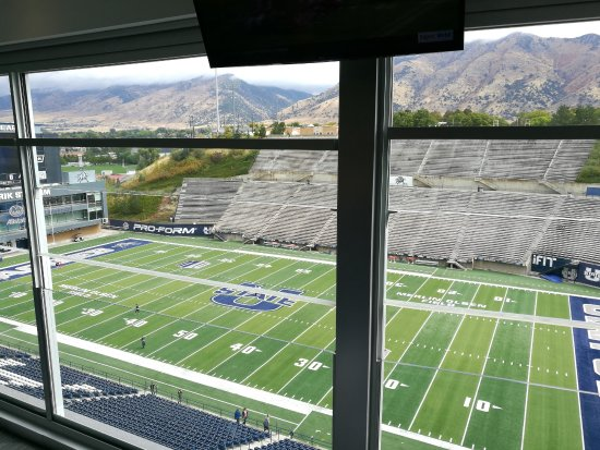 Logan, UT: View from the suites