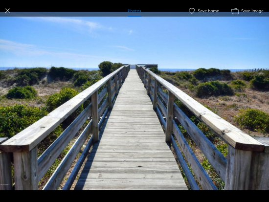 Caswell Beach, NC: Trail to peaceful bliss