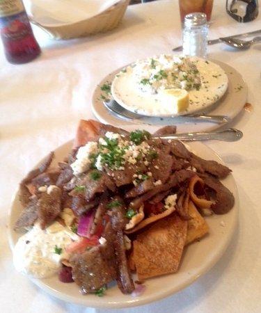 """Hummus & More: EGGPLANT CRAB, CAKE MEDITERANNEAN """"NACHOS"""""""