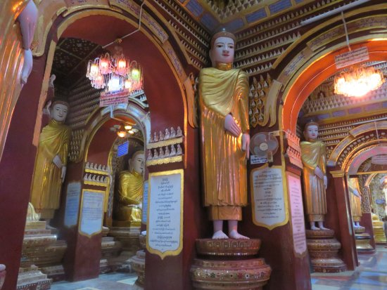 Monywa, Birmania: Buddhas in every corner, every nook and cranny, on and on