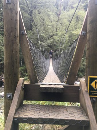 Mount Somers, นิวซีแลนด์: Swing bridge between Sharplin Falls carpark and Pinnacles Hut