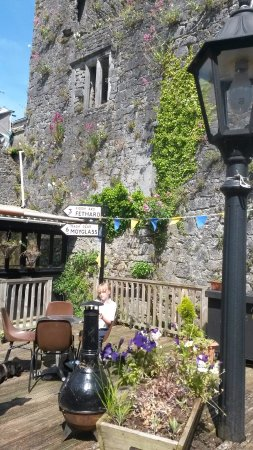 Fethard, Ireland: The Castle Beer Garden Bordered by Awesome Ruins