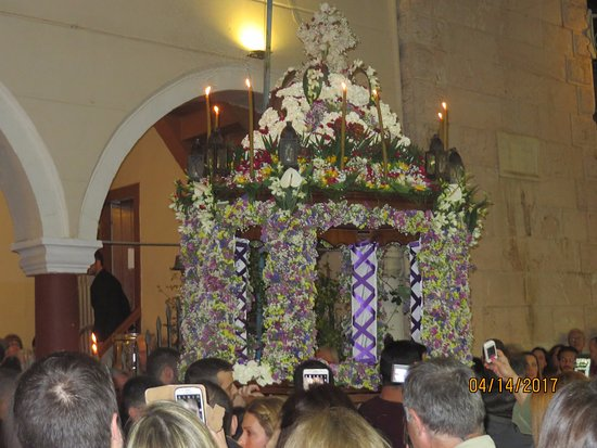 Nafplio, Greece: The Epitaph during Good Friday