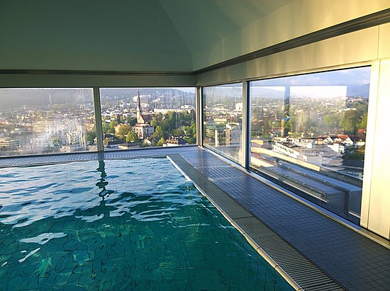Swissotel Zurich: Pool view