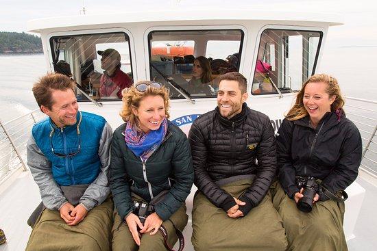 San Juan Islands, WA: Join us! Comfortable bow seating on Sea Lion