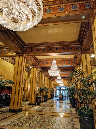 The Roosevelt New Orleans, A Waldorf Astoria Hotel: Fountain Lounge and Hotel Lobby