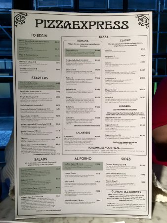 Italian Express Restaurant Menu