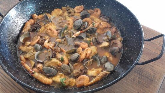 Ayamonte, España: Caldereta de pescado y marisco