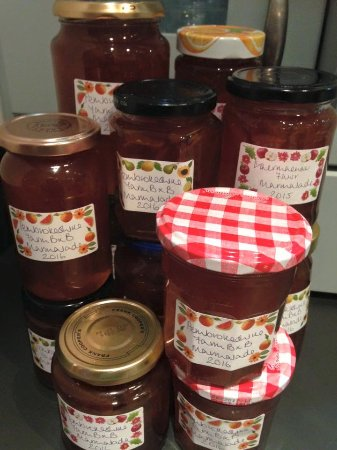Narberth, UK: Home made marmalade, jams and preserves including honey from our own bees