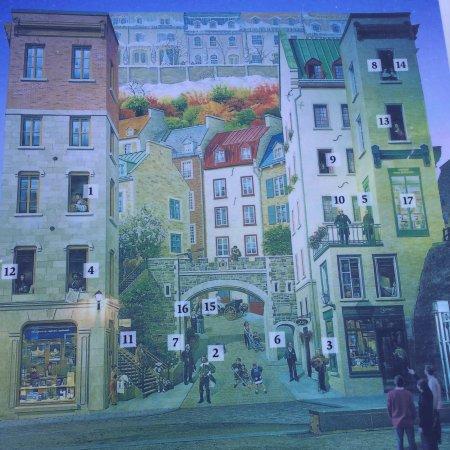 Upper Town (Haute-Ville): Quartier Champlain (fresque)
