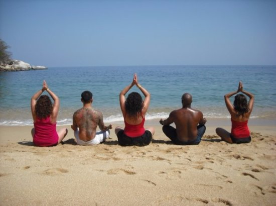 Yoga Vallarta: Weekly hikes from our yoga studio to places like this secluded beach Los Colomitos