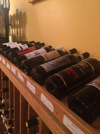 Marina's wine selection