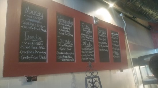 Mount Juliet, TN: Menu board