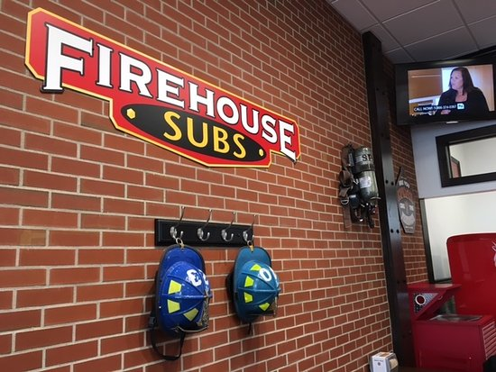 Centerville, OH: Firehouse Subs interior wall in dining area