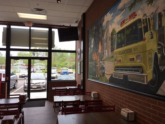 Centerville, OH: Firehouse Subs dining area
