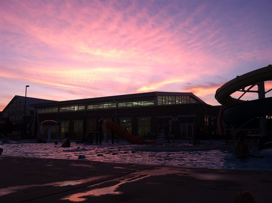 Versailles, KY: Night swim post-5k