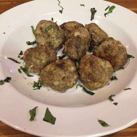 Cedar Rapids, IA: Homemade Meatballs!  Get them on a Pizza or a Hoagie, take your pick!