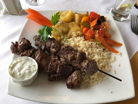 Oshawa, Canada : Beef Souvlaki Dinner