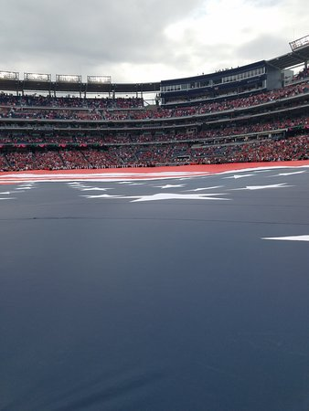 Nationals Park: Unfurling the flag on the field, opening day, April 3
