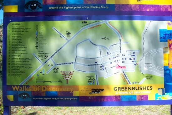 Greenbushes, Australia: Town map