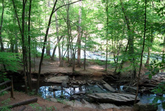 Lithia Springs, GA: Along path to Old Mill.