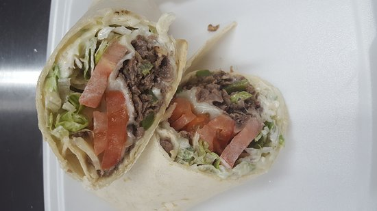 Delmar, MD: Cheesesteak wrap