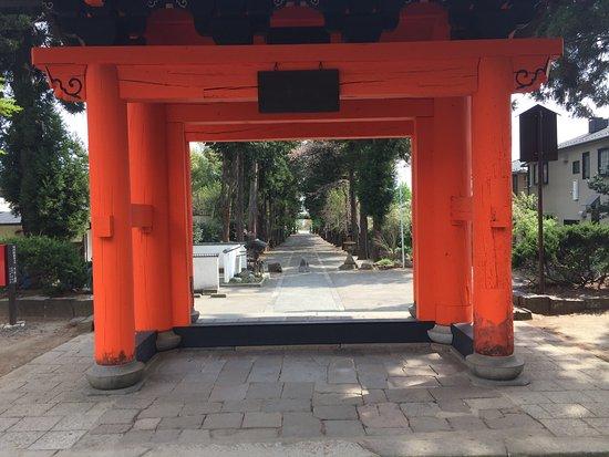 Koshu, Japan: 恵林寺より参道を望む