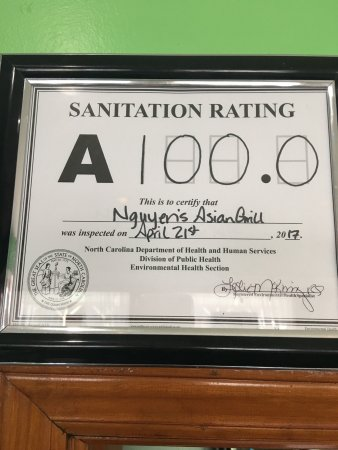 Newland, Carolina del Norte: Yay😊! Still got our perfect sanitation score!!!!😍