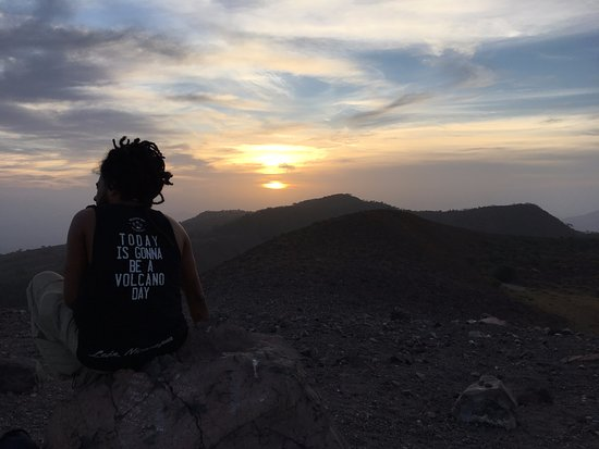 Leon, Nicaragua: sunrise from the Telica crater, provided by 'Volcano Day' Tours