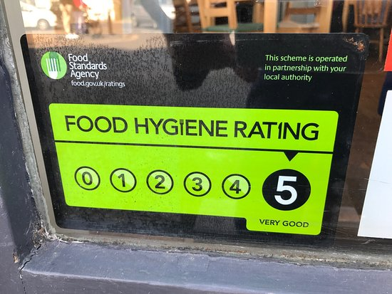 Rustington, UK: 5 on 'Scores on the doors' for food hygiene