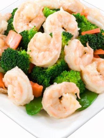 Deming, Nuevo Mexico: Broccoli shrimp