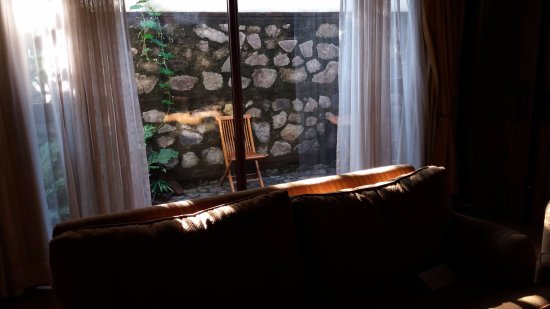 Porta Hotel Antigua: Little private patio from the living room of our suite