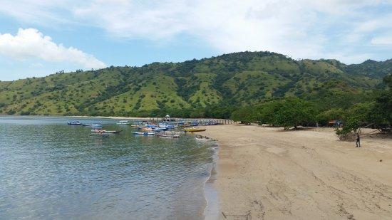 Komodo, Indonesië: Beach view on the island