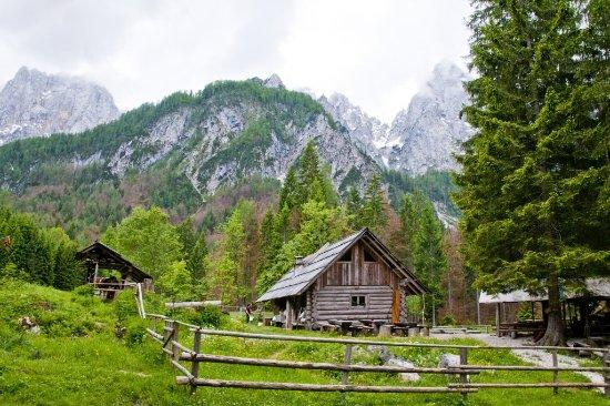 Gozd Martuljek, Slowenien: backside of the cottage